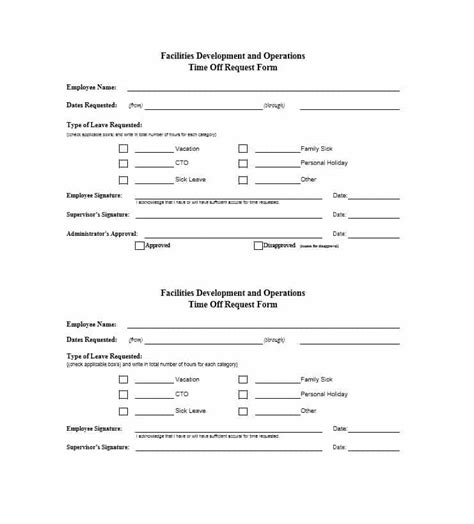 22297 request for time form 40 effective time request forms templates