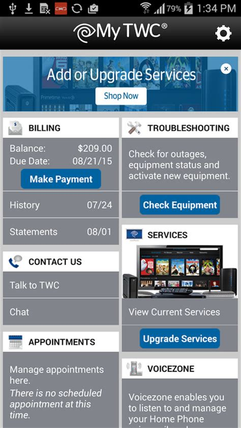 time warner phone app my twc apk free android app appraw