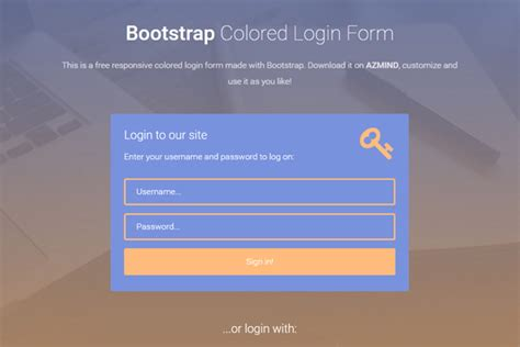 bootstrap login form template free bootstrap colored login forms 3 free templates azmind