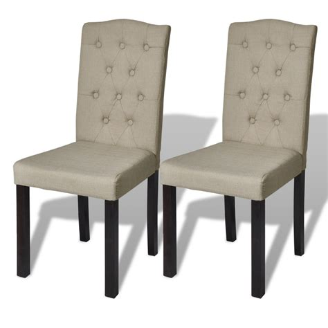 lot chaise lot de 2 chaises de salon beige