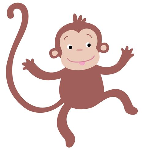 monkey clipart hanging baby monkey template images pictures becuo