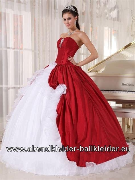 brautkleid mit rot klassisches brautkleid abendkleid ballkleid in rot weiss