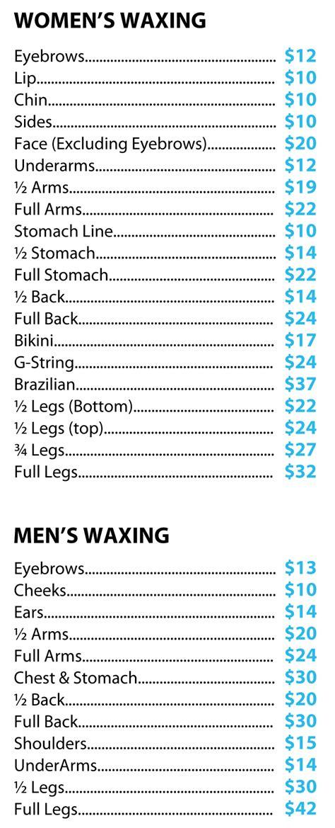Service Prices by Price List Fair