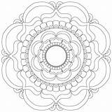 Monday Mandala Coloring Adult Printable Trippy Gentlemancrafter Colour sketch template