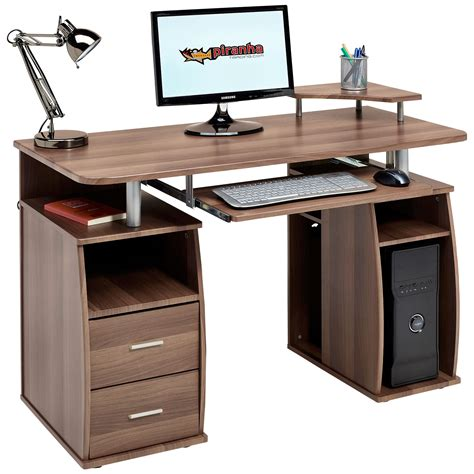 desk with drawers and shelves computer desk with shelves cupboard drawers home office