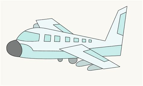 draw  airplane easy drawing guides