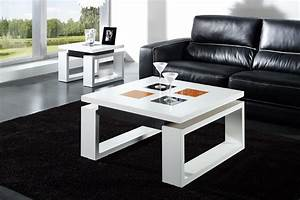 Table Basse Chene Blanchi : table basse chene blanchi laqu e relevable latablebasse ~ Melissatoandfro.com Idées de Décoration