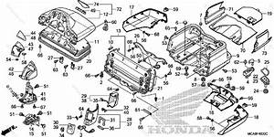 Honda Motorcycle 2017 Oem Parts Diagram For Trunk Box