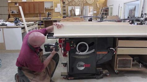 making  crosscut sled   sawstop table  youtube