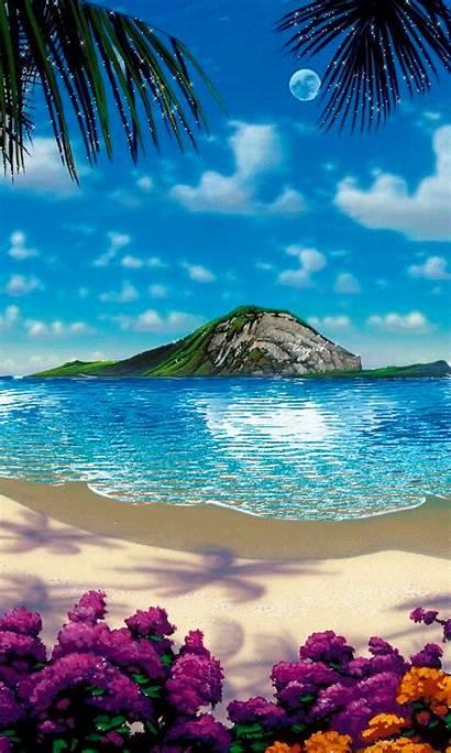 Amazing Animated Beaches Sunset Nice Nature Beauty