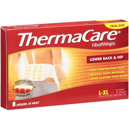 heat l walmart thermacare lower back hip therapy heatwraps 1 ct