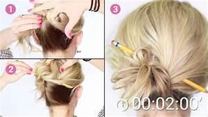 Comment Attacher Ses Cheveux : pour faire ce chignon il suffit d 39 un simple crayon et de ~ Melissatoandfro.com Idées de Décoration