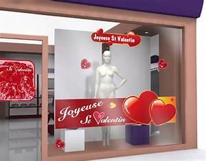 Vitrine Saint Valentin : sticker de saint valentin 13 decovitrines ~ Louise-bijoux.com Idées de Décoration
