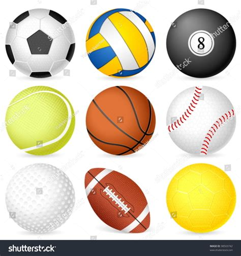 Balls Images White Background by Sport Balls On White Background Vector Illustration