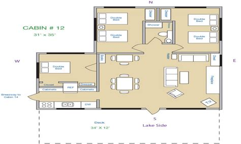 cabin floor plans 3 bedroom cabin floor plans 1 bedroom log cabins lake