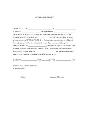 When that money goes to a. Editable Estate receipt and release form - Fill Out Best ...