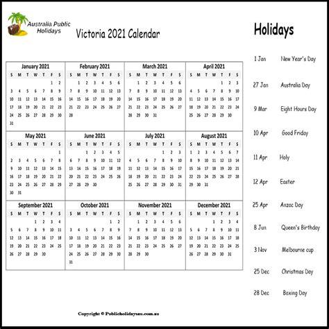 public holidays vic