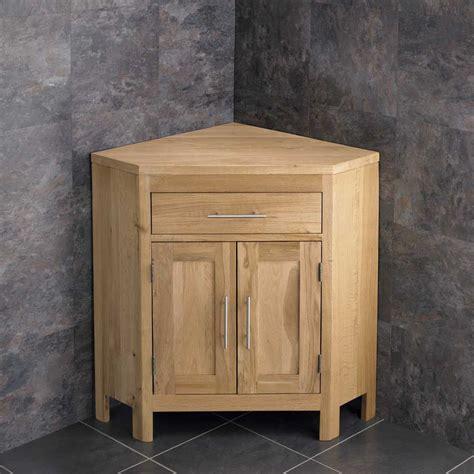 Oak Corner Bathroom Cabinet by Alta Solid Oak Large Two Door Vanity Corner