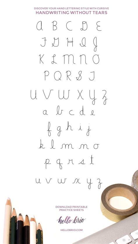 discover  hand lettering style  cursive  brio