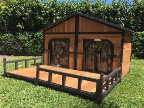 dog house somerzby grand kennel  front porch