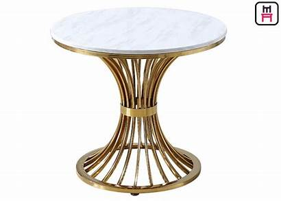 Table Coffee Round Legs Steel Stainless Marble