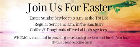 front page westover united methodist church 365 | Easter Appearance Web Banner 1