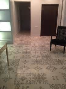 white  grey heritage tile floor designed  alice von