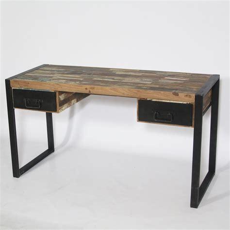 bureau metal et bois bureau bois metal mzaol com