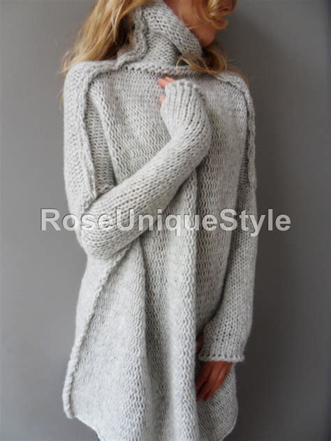 oversized sweater oversized handmade chunky knit sweater