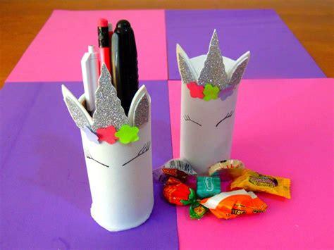 dulceros y porta lapices de unicornio con tubos de papel higi 233 nico reciclaje recetas f 193 ciles