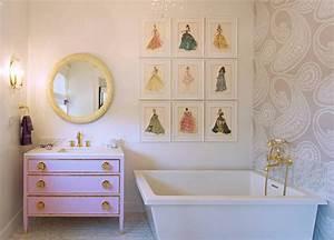 Pink Barbie Bathroom Design Contemporary Bathroom