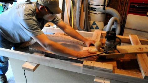 thickness planing  edge slab wood youtube