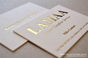 Gold foil business card lamaa luxury chauffeur service for Business cards gold foil