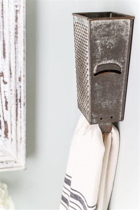 box grater towel rack  touch  farmhouse charm blesser house