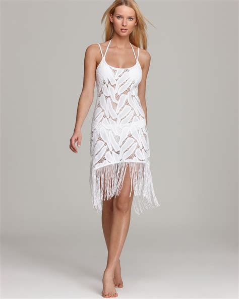 white swimsuit cover up pilyq coconut white heavenly dress swimsuit cover up in