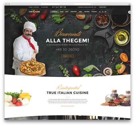 cuisine site 30 best restaurant themes 2018 colorlib