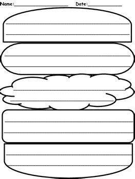 Burger Writing Template by Hamburger Graphic Organizer By Elizabeth Madrid Tpt