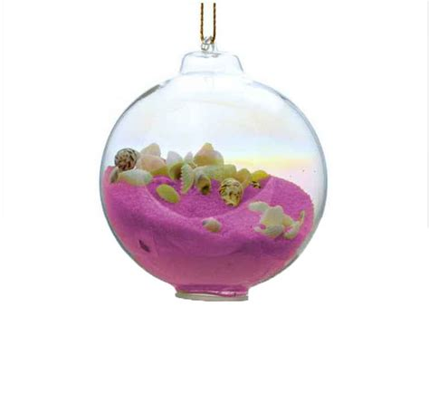 buy pink sand glass bubble christmas tree ornament boat