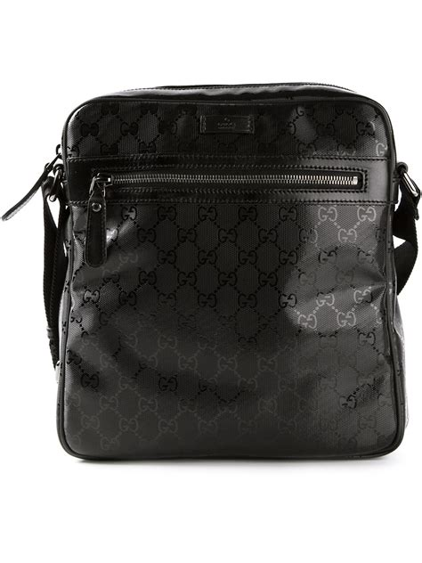 gucci monogram shoulder bag  black  men lyst