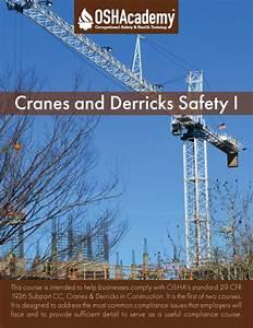 Oshacademy Free Online Crane And Derrick Safety Training