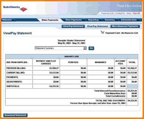 bank of america bank statement template bank of america bank statement template free chlain college publishing