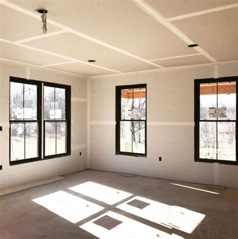black window frames create high contrast  paired