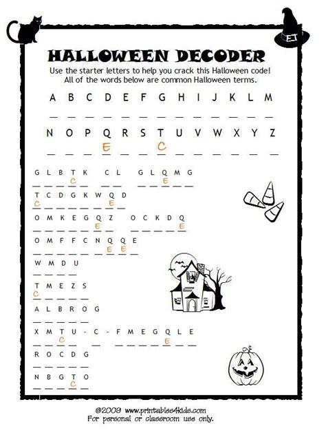 Hard Halloween Brain Teasers by Halloween Code Breaker Cryptoquiz Brain Teaser