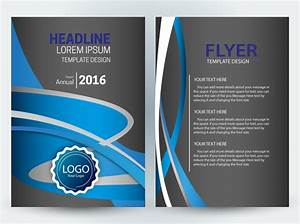 Flyer Template Design With Dark And Curves Background Free