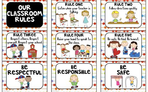 classroom rules template fourth and ten rules and behavior expectation freebies