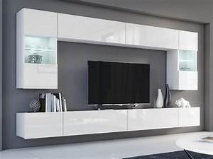 Wohnwand Modern Weiß : kaufexpert wohnwand flow wei hochglanz wei mediawand medienwand design modern led ~ A.2002-acura-tl-radio.info Haus und Dekorationen