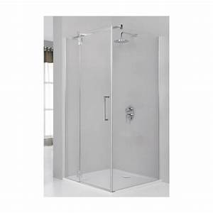 douche standard porte pivotante avec partie fixe en With douche avec porte pivotante