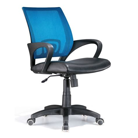 shop lumisource black blue leather executive office chair