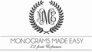monograms made easy 72 fonts frames With free monogram generator