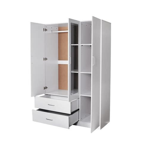 One Door Wardrobe With Drawers by 15 Photos 3 Door White Wardrobes With Drawers